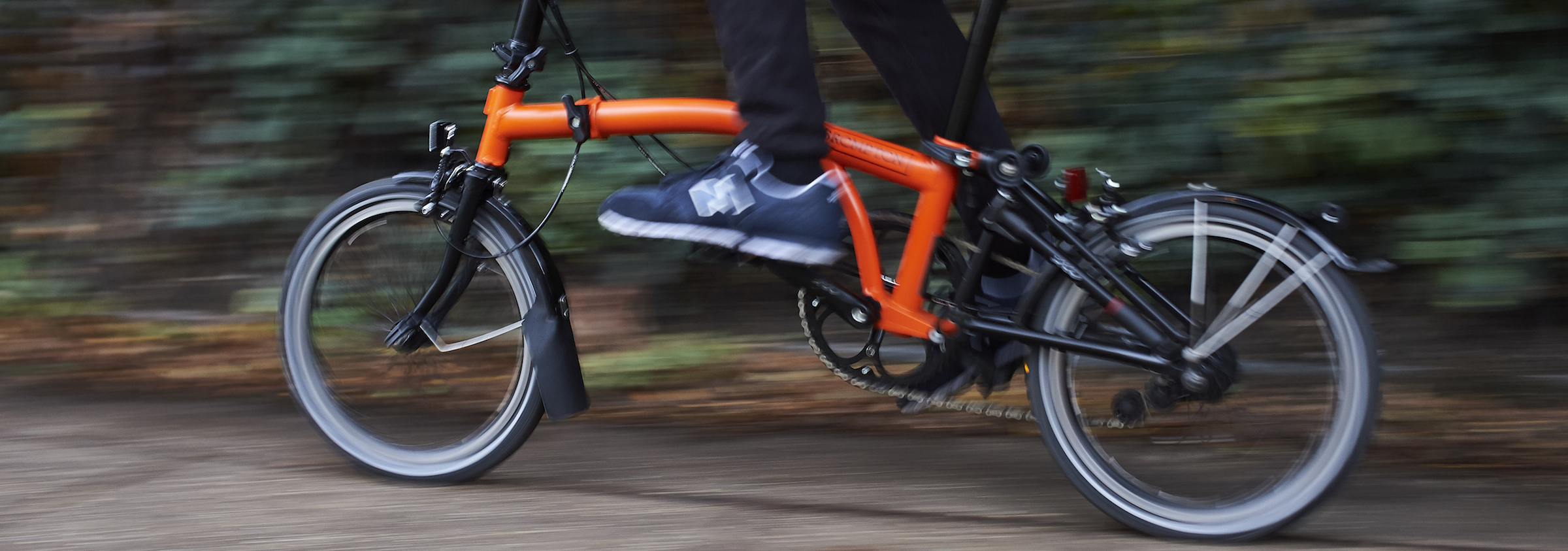 Riding the new Black Edition Brompton with Orange Mainframe