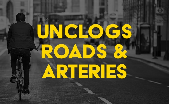 unclogs roads and arteries